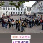Friedensweg der Religionen Franziskuskreis 2019 in Attendorn am Alter Markt